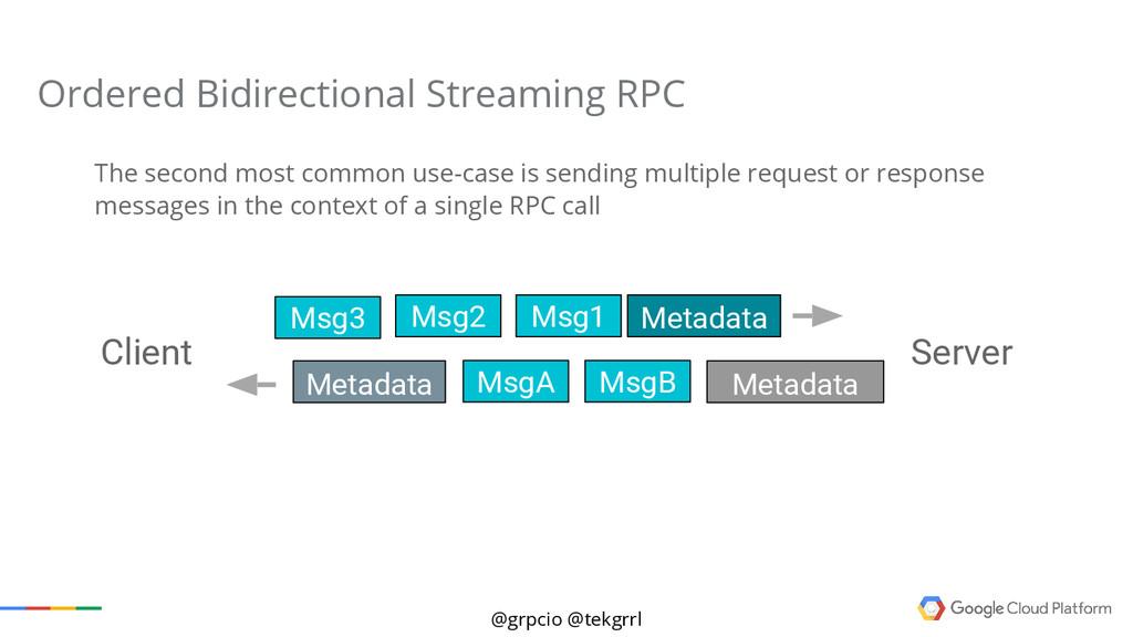@grpcio @tekgrrl Ordered Bidirectional Streamin...