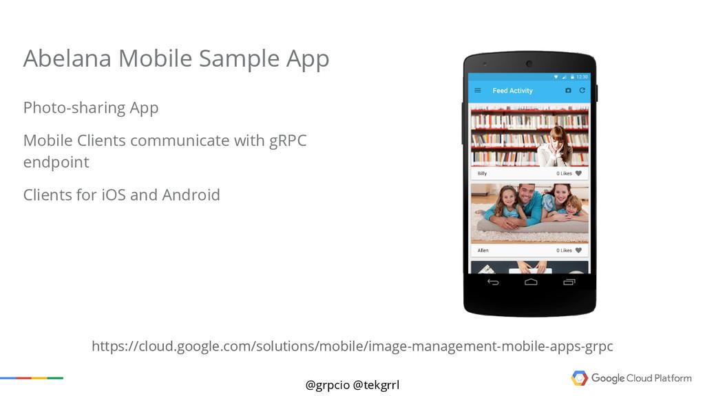@grpcio @tekgrrl Abelana Mobile Sample App Phot...