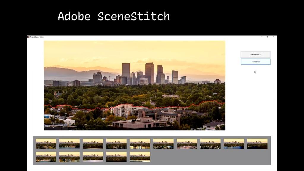 Adobe SceneStitch