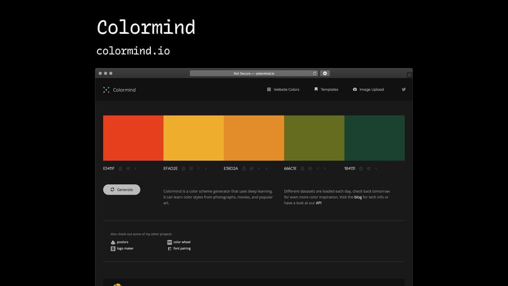 Colormind colormind.io