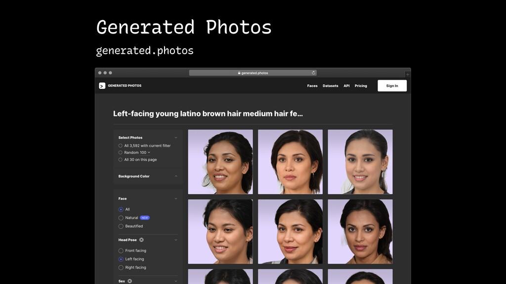 Generated Photos generated.photos