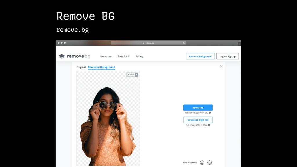 Remove BG remove.bg