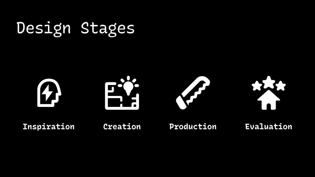 Design Stages Inspiration Evaluation Creation P...