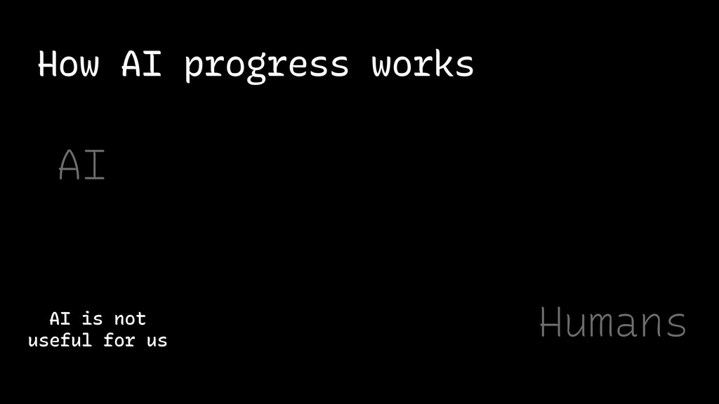How AI progress works AI is not useful for us A...