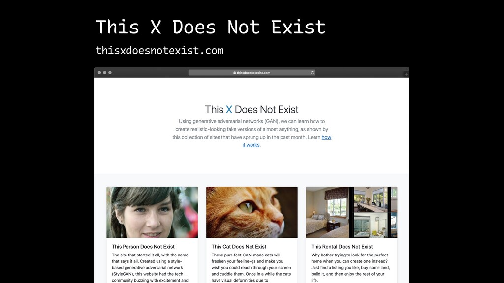 This X Does Not Exist thisxdoesnotexist.com
