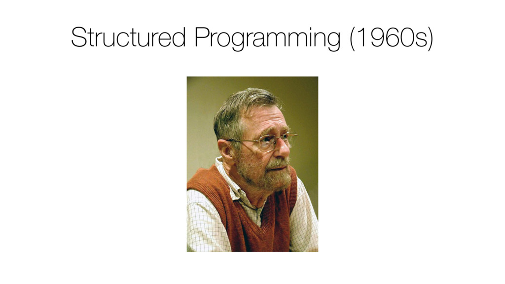 Structured Programming (1960s)