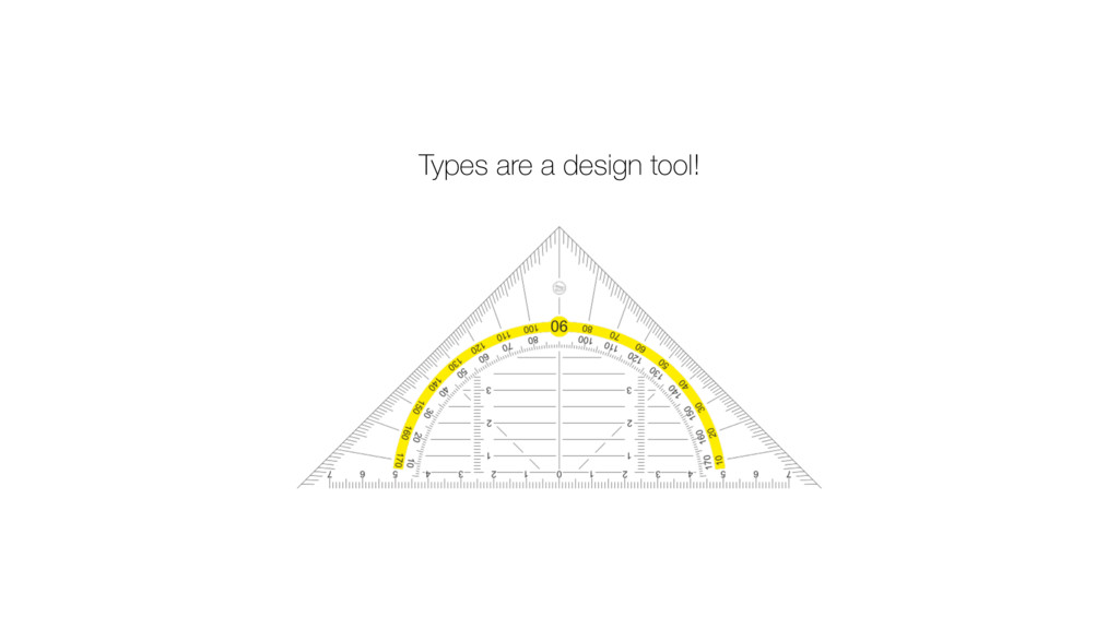 Types are a design tool!