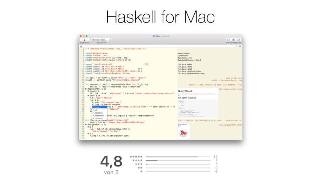 Haskell for Mac
