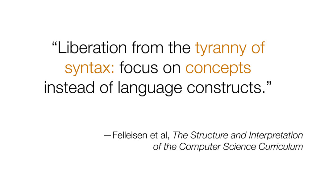 """Liberation from the tyranny of syntax: focus o..."