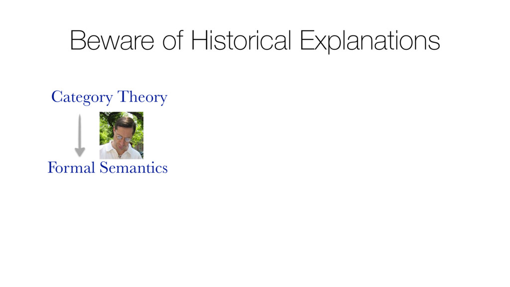 Beware of Historical Explanations Category Theo...
