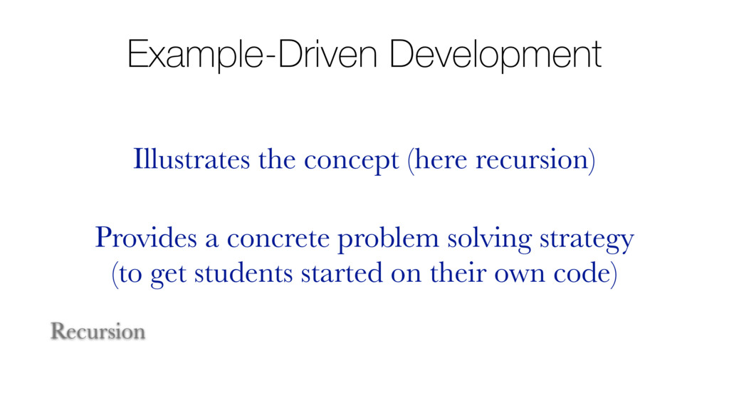 Example-Driven Development Illustrates the conc...