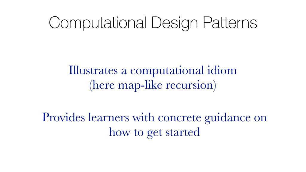 Computational Design Patterns Illustrates a com...
