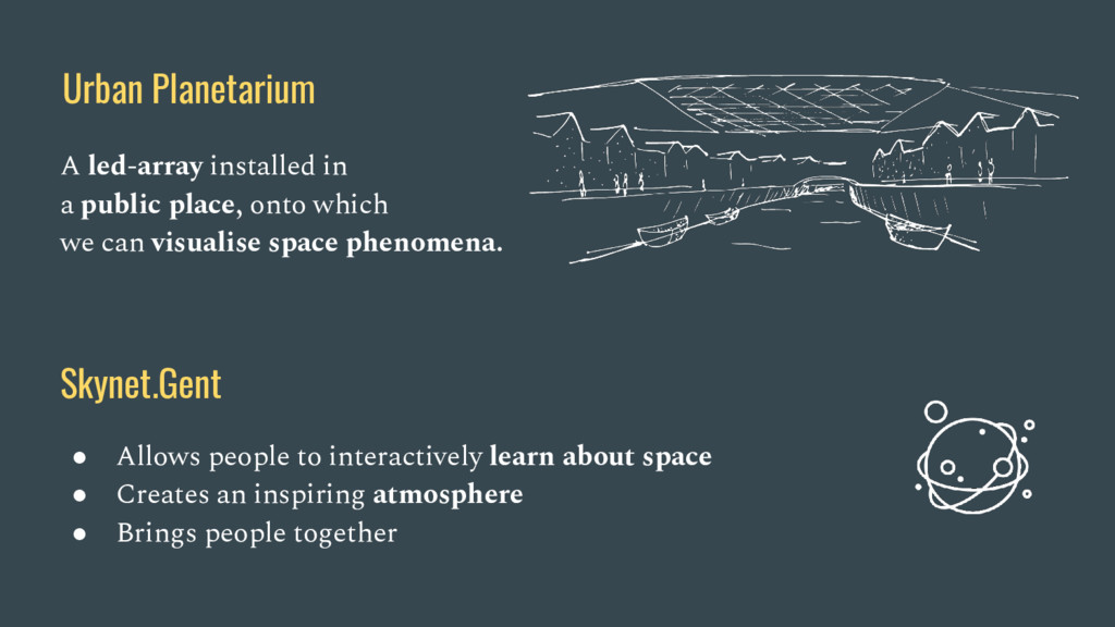 Urban Planetarium A led-array installed in a pu...
