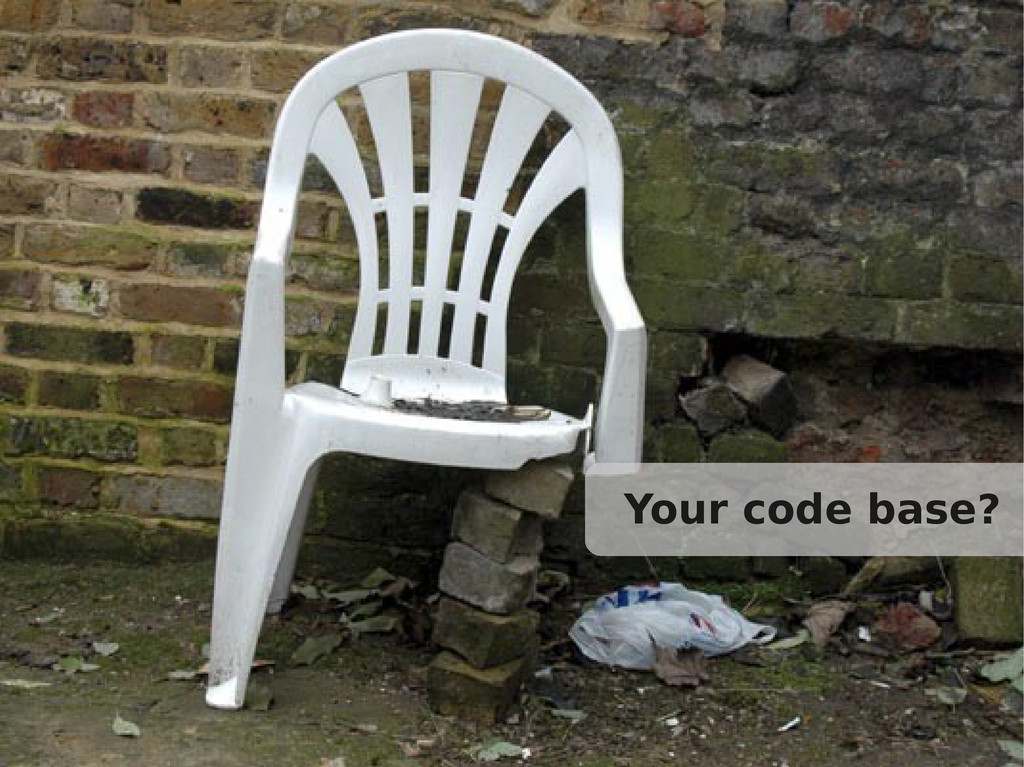 Your code base?
