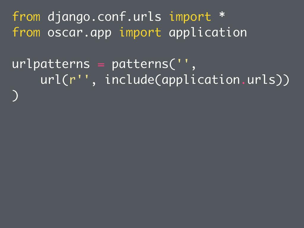 from django.conf.urls import * from oscar.app i...