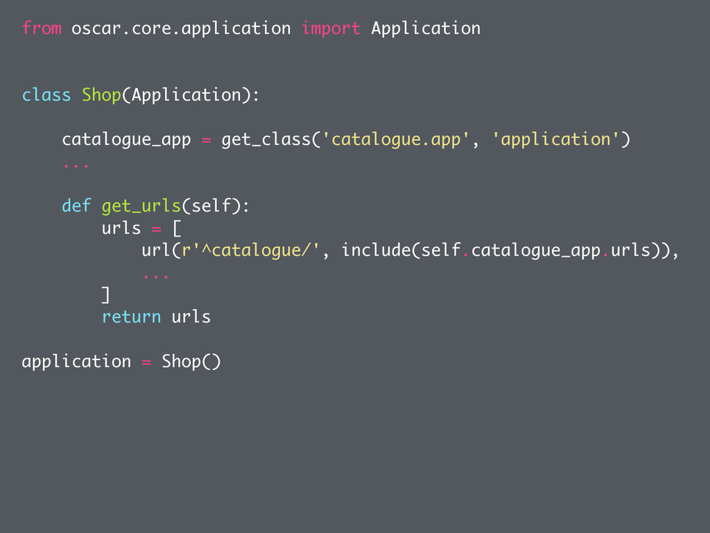 from oscar.core.application import Application ...