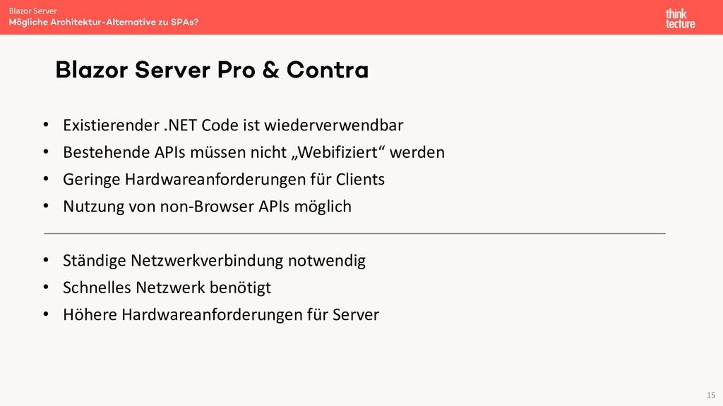 15 • Existierender .NET Code ist wiederverwendb...