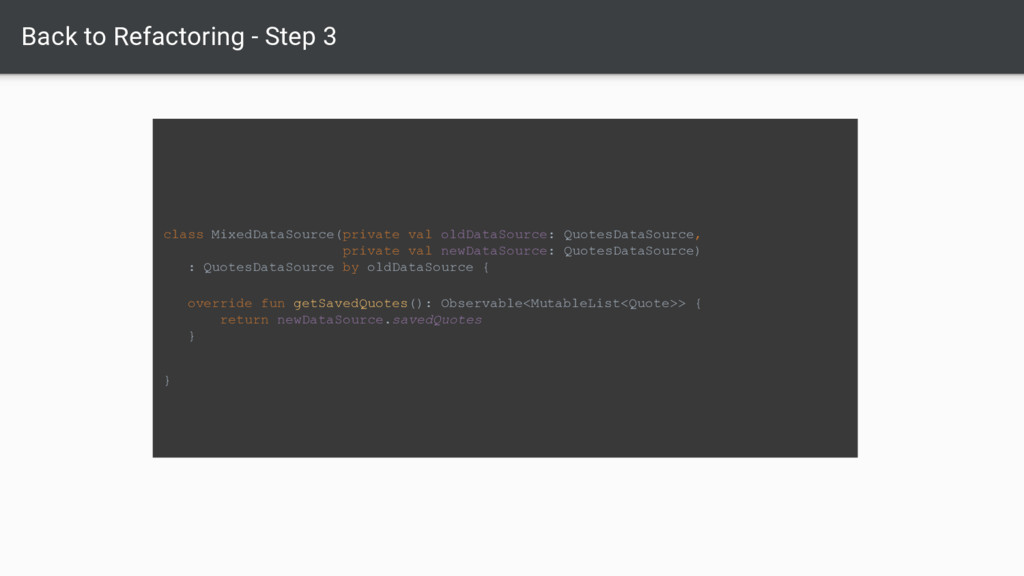Back to Refactoring - Step 3 class MixedDataSou...