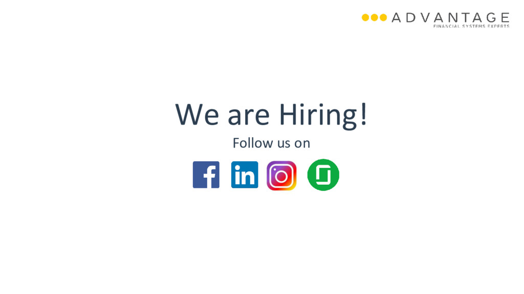 We are Hiring! Follow us on