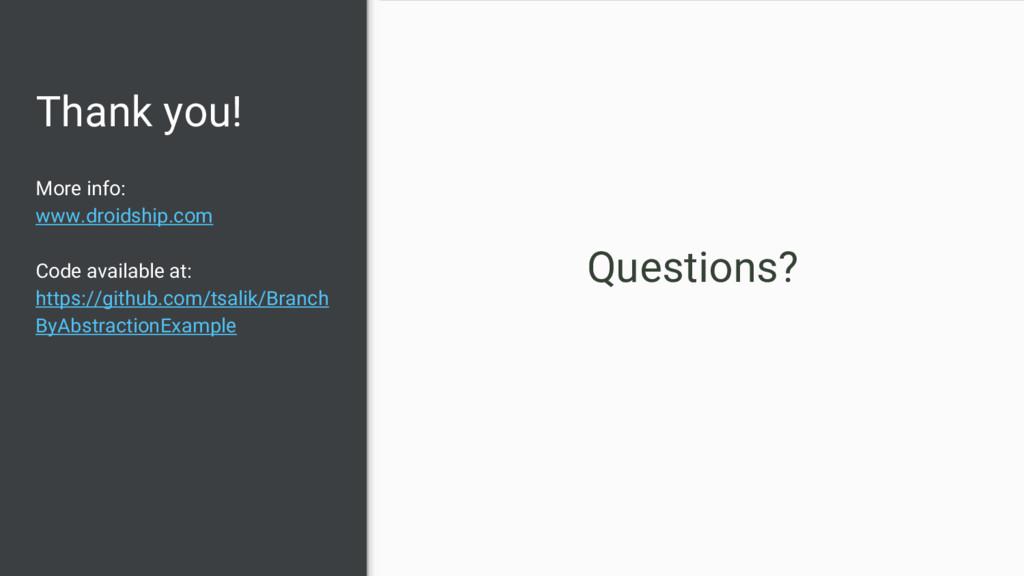 Thank you! More info: www.droidship.com Code av...