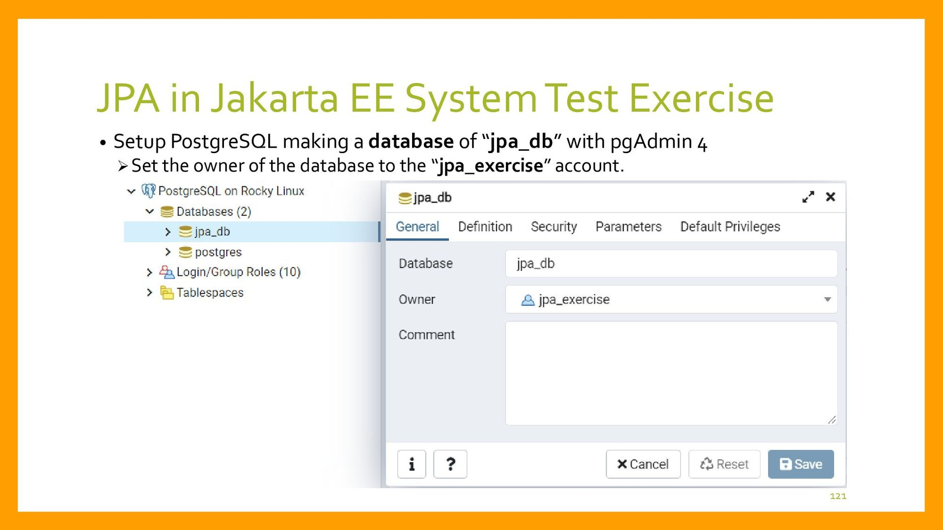 JPA in Jakarta EE System Test Exercise • Setup ...