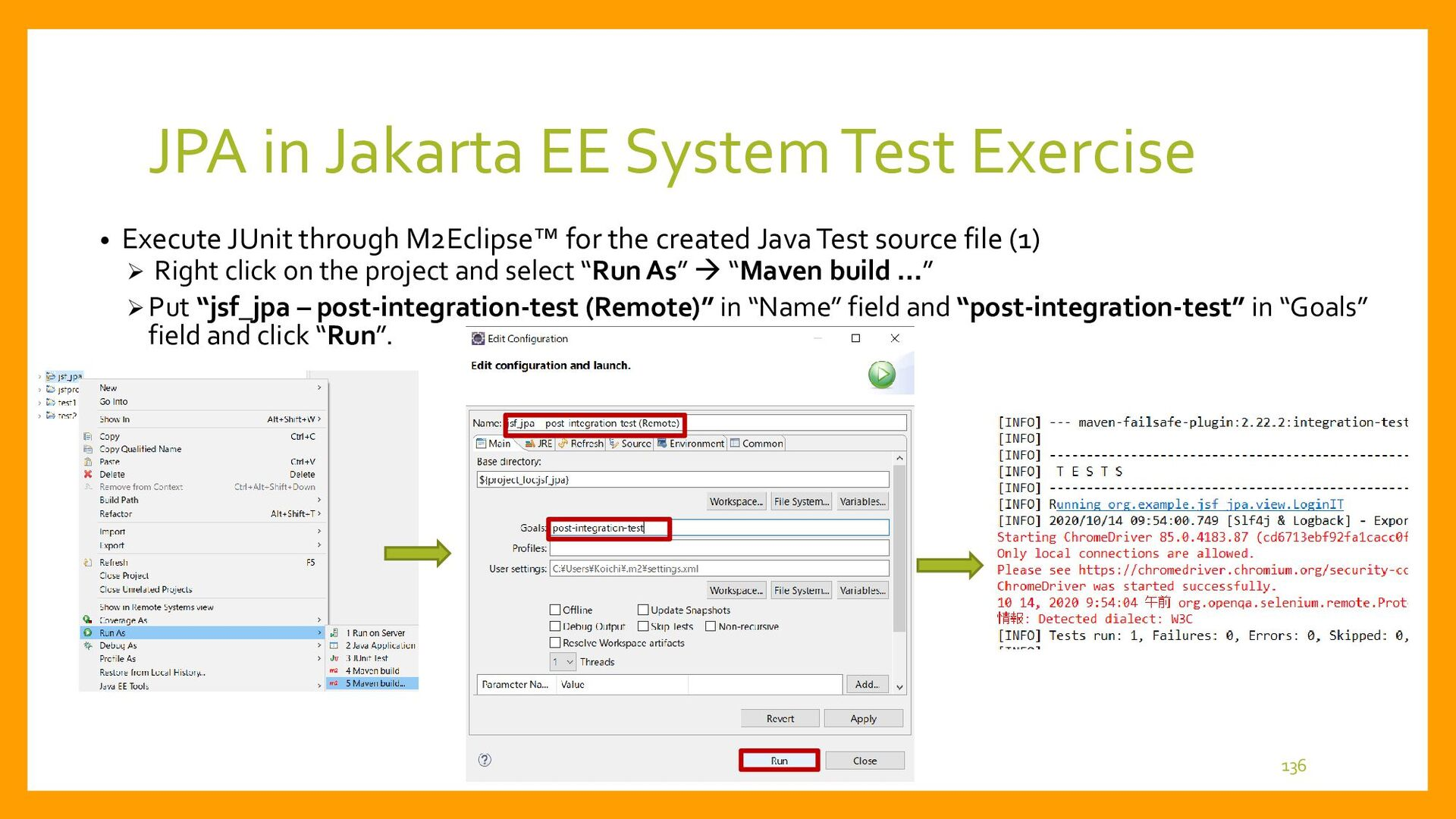 JPA in Jakarta EE System Test Exercise • Execut...