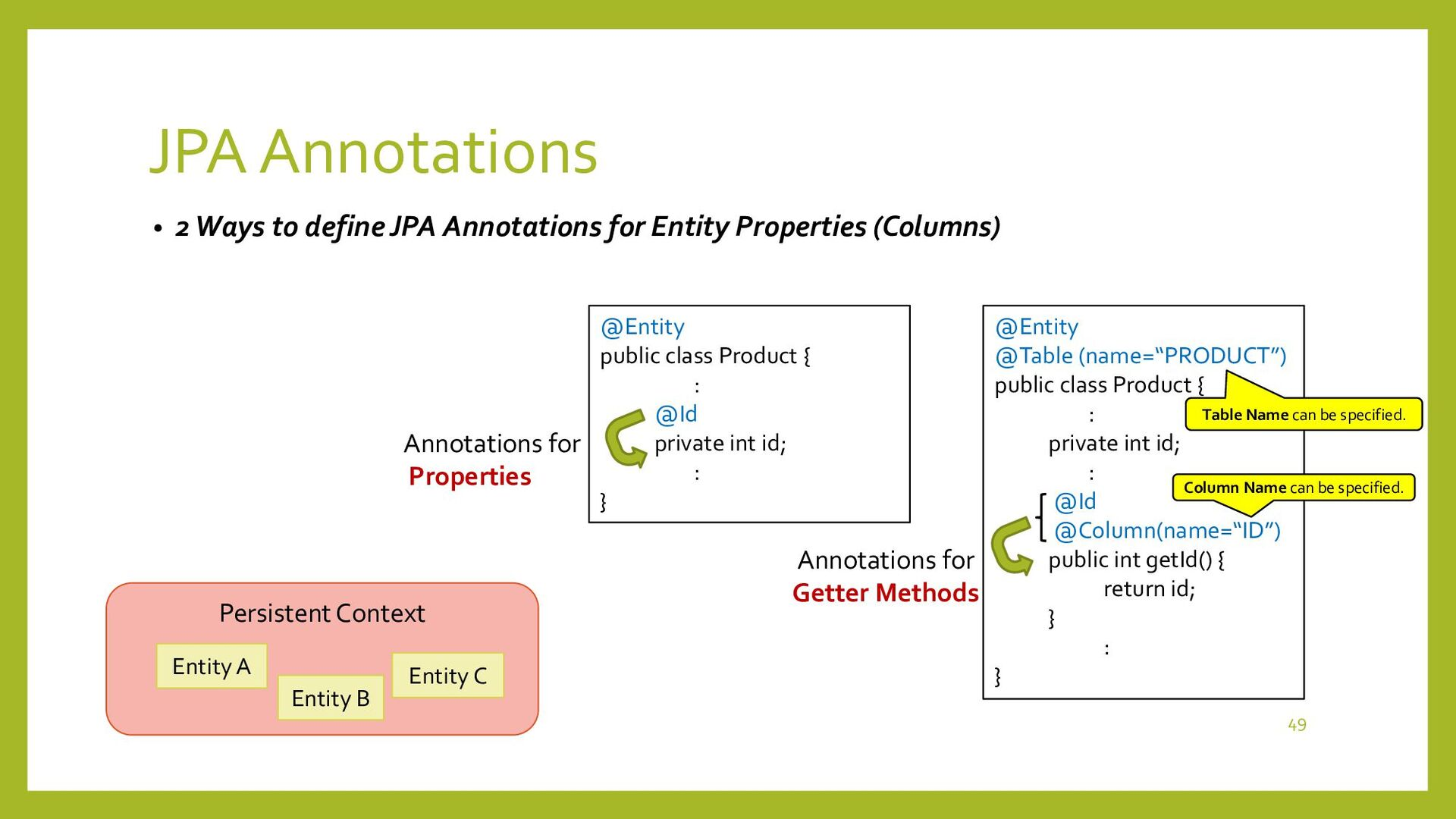 JPA Annotations • Auto numbering for Primary Ke...