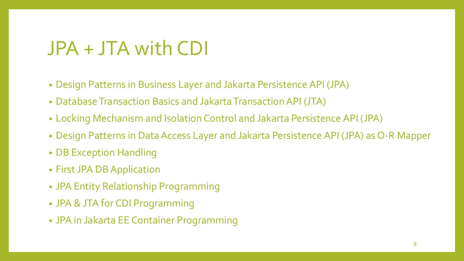 Design Patterns in Business Layer and Jakarta P...