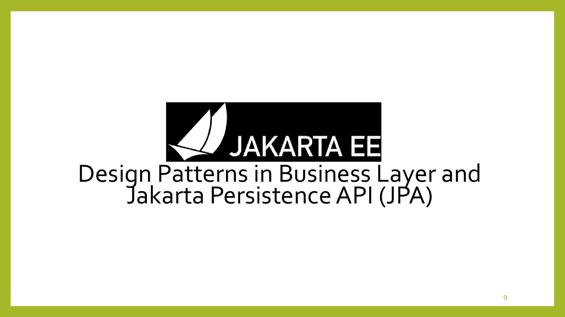 Design Patterns in Business Layer • Analysis Mo...