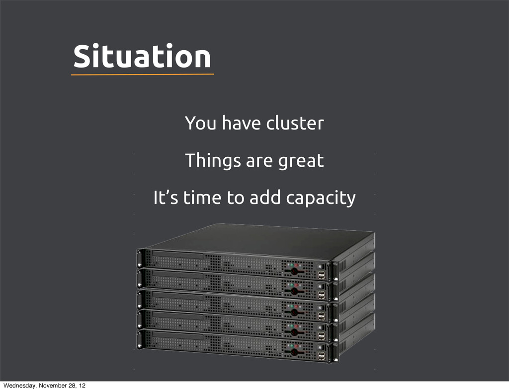 You have cluster Things are great It's time to ...