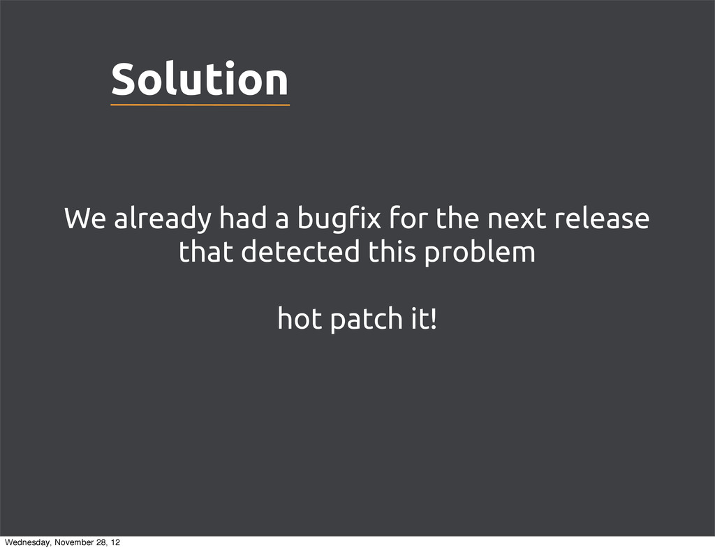 """Solution We already had a bug""""x for the next re..."""