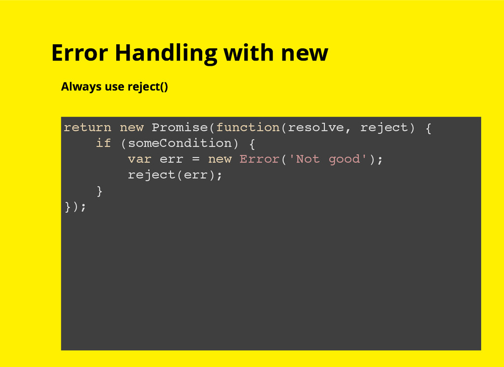 Error Handling with new Error Handling with new...
