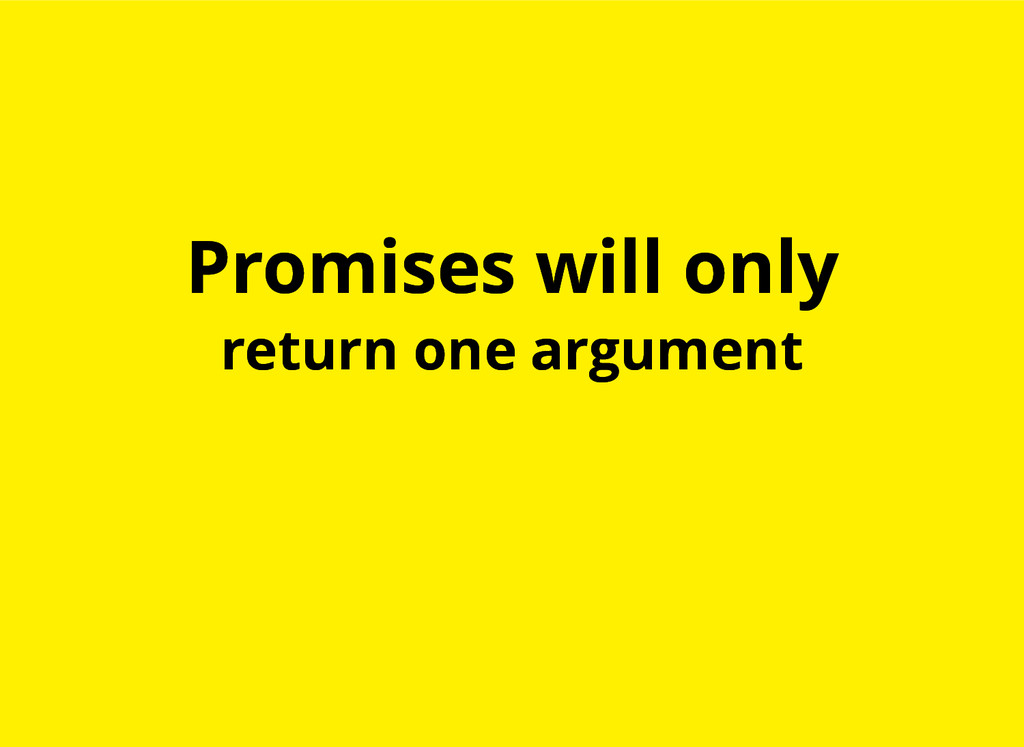 Promises will only Promises will only return on...