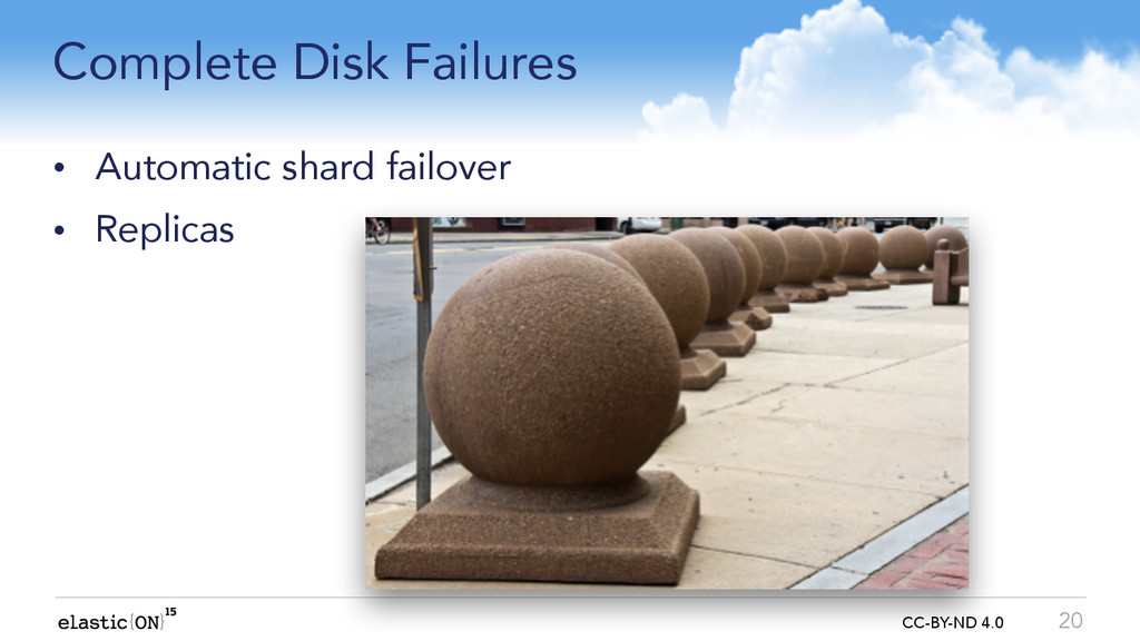 { } CC-BY-ND 4.0 Complete Disk Failures • Autom...