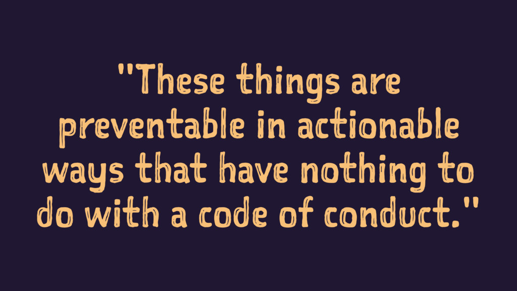 """""""These things are preventable in actionable way..."""