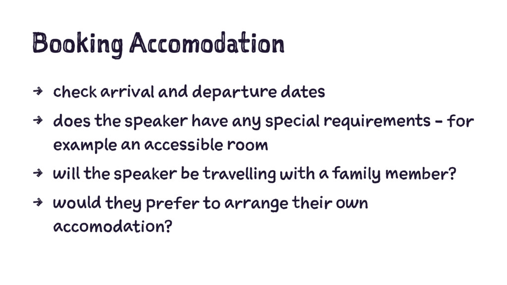 Booking Accomodation 4 check arrival and depart...