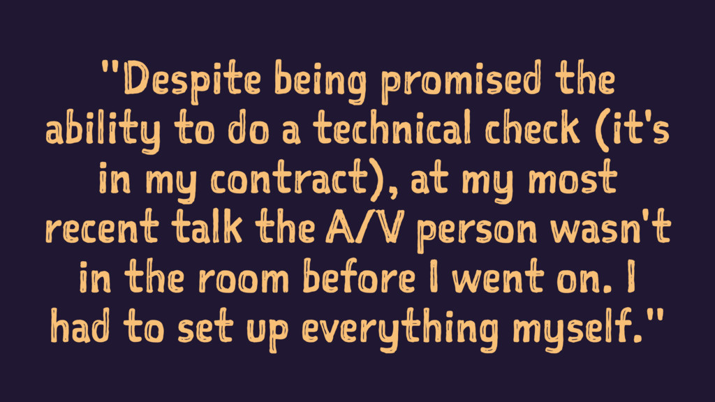 """""""Despite being promised the ability to do a tec..."""
