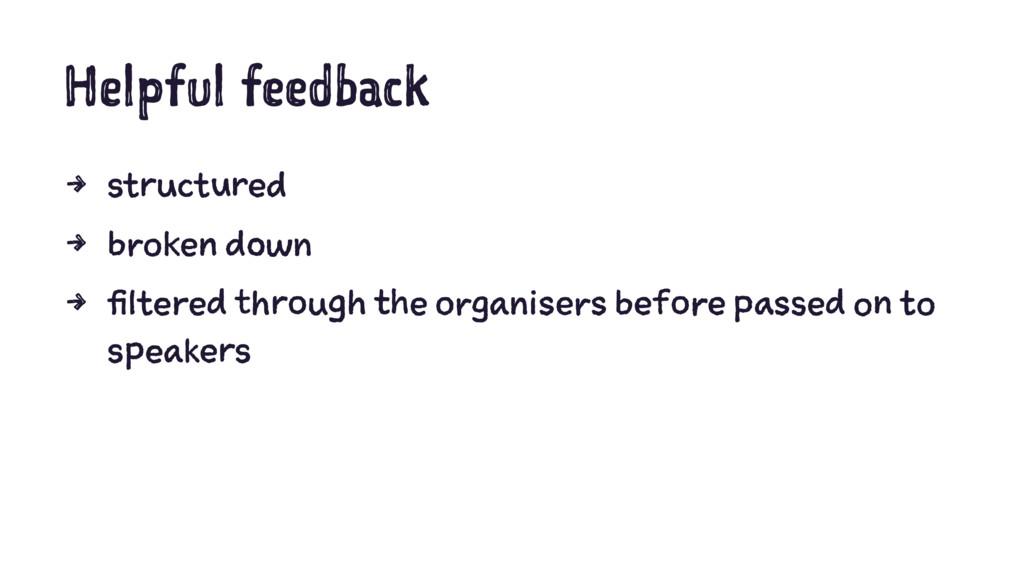 Helpful feedback 4 structured 4 broken down 4 f...