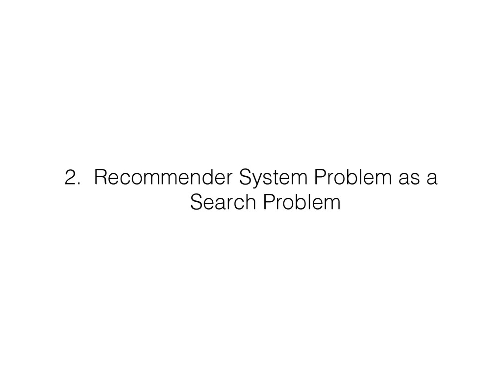 2. Recommender System Problem as a Search Prob...