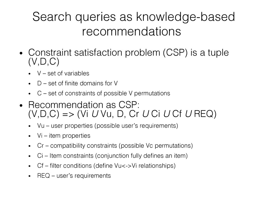Search queries as knowledge-based recommendatio...