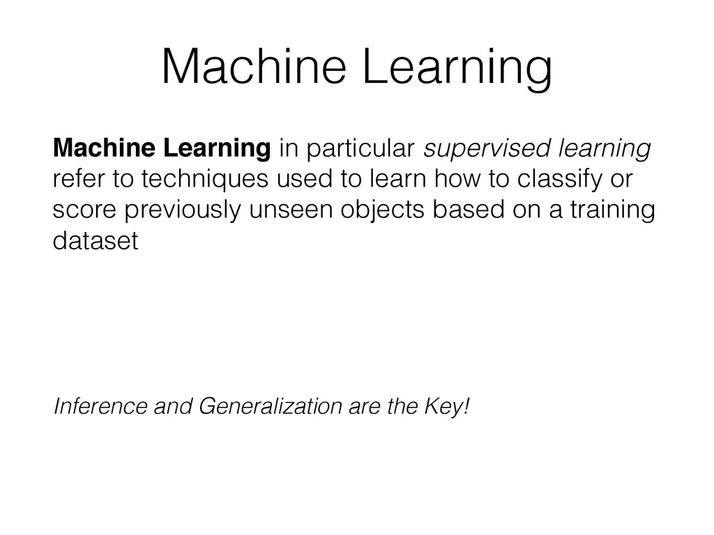 Machine Learning! Machine Learning in particula...