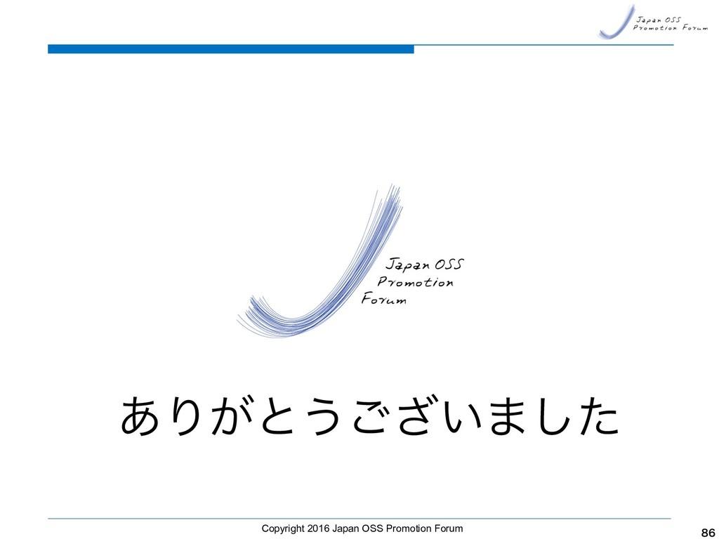 Copyright 2016 Japan OSS Promotion Forum   ͋...