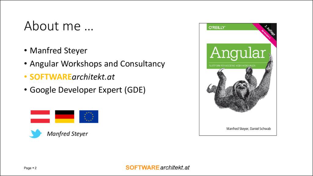 About me … • Manfred Steyer • Angular Workshops...
