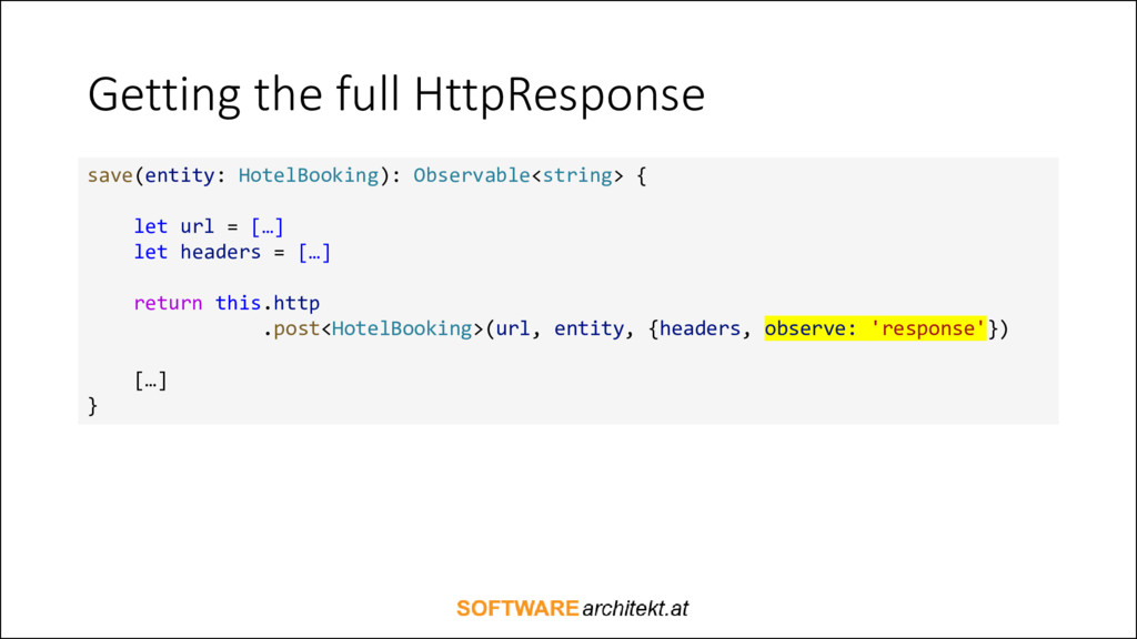 Getting the full HttpResponse save(entity: Hote...