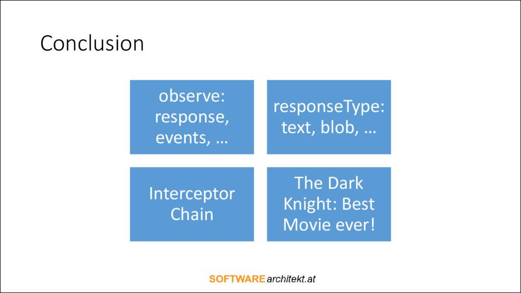 Conclusion observe: response, events, … respons...