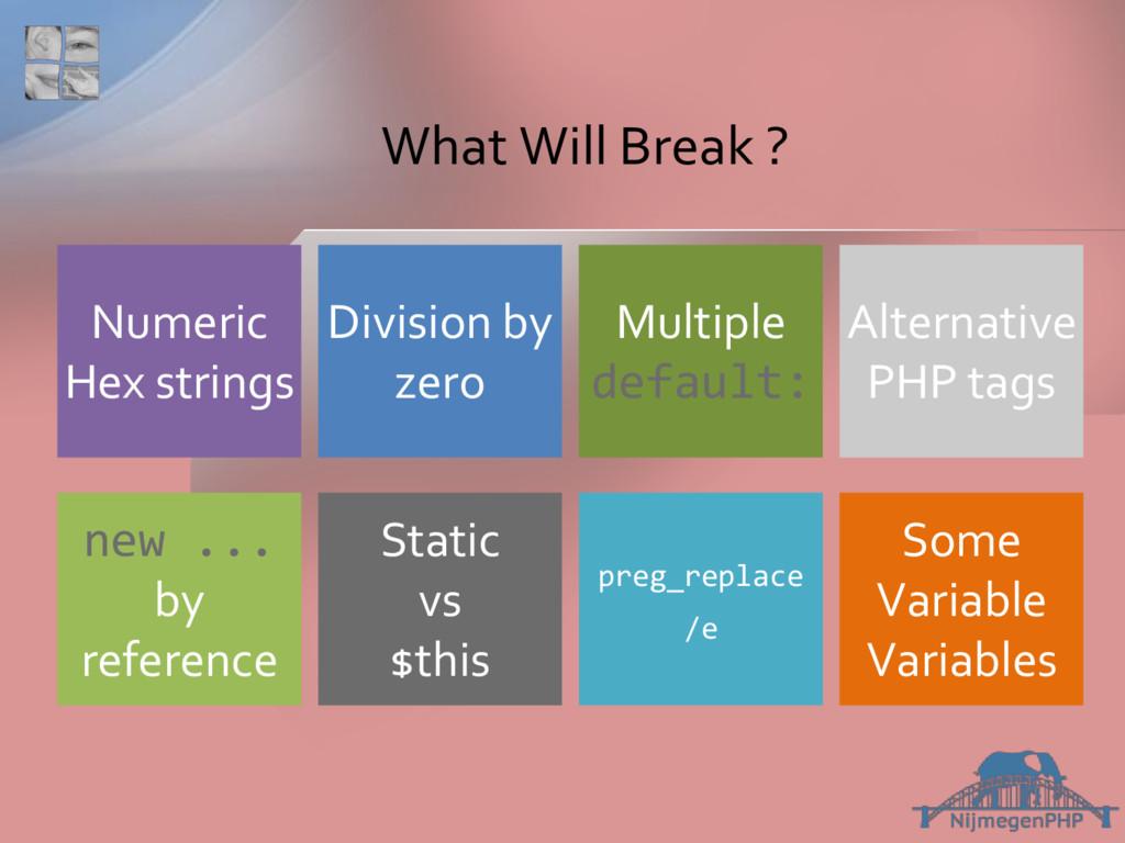 What Will Break ? preg_replace /e Static vs $th...