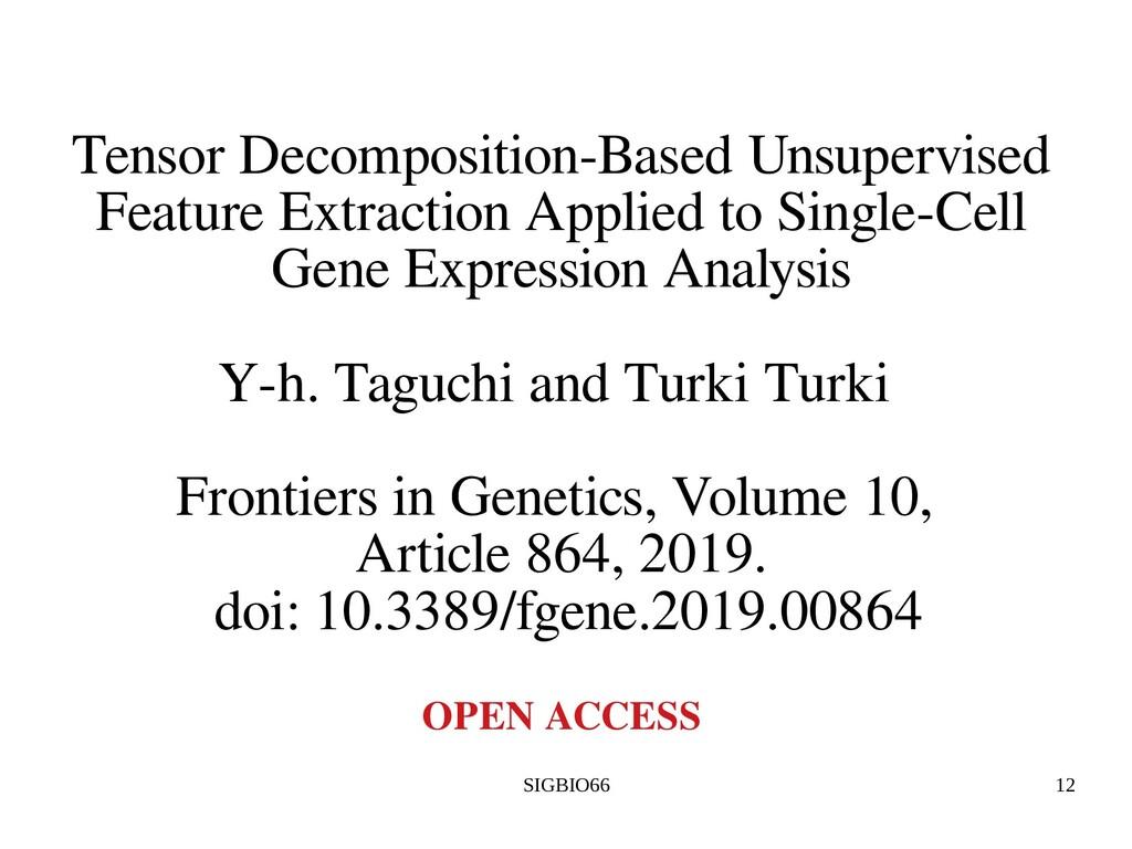 SIGBIO66 12 Tensor Decomposition-Based Unsuperv...