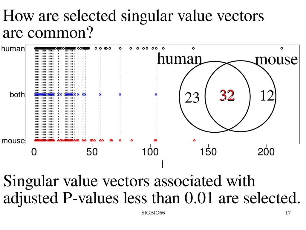 SIGBIO66 17 How are selected singular value vec...