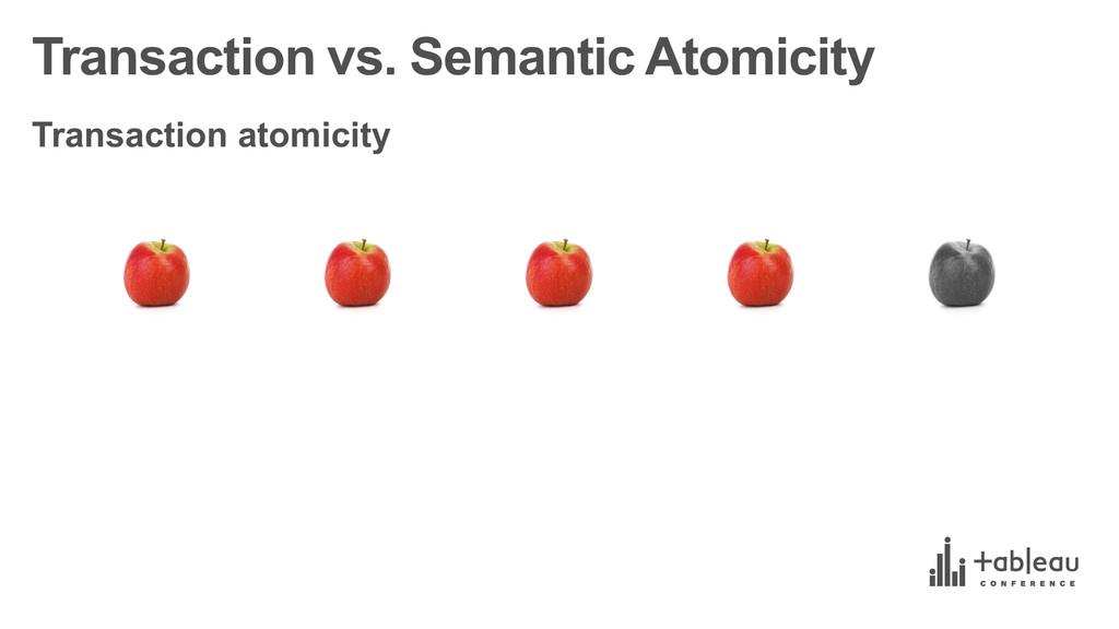 Transaction vs. Semantic Atomicity Transacti...