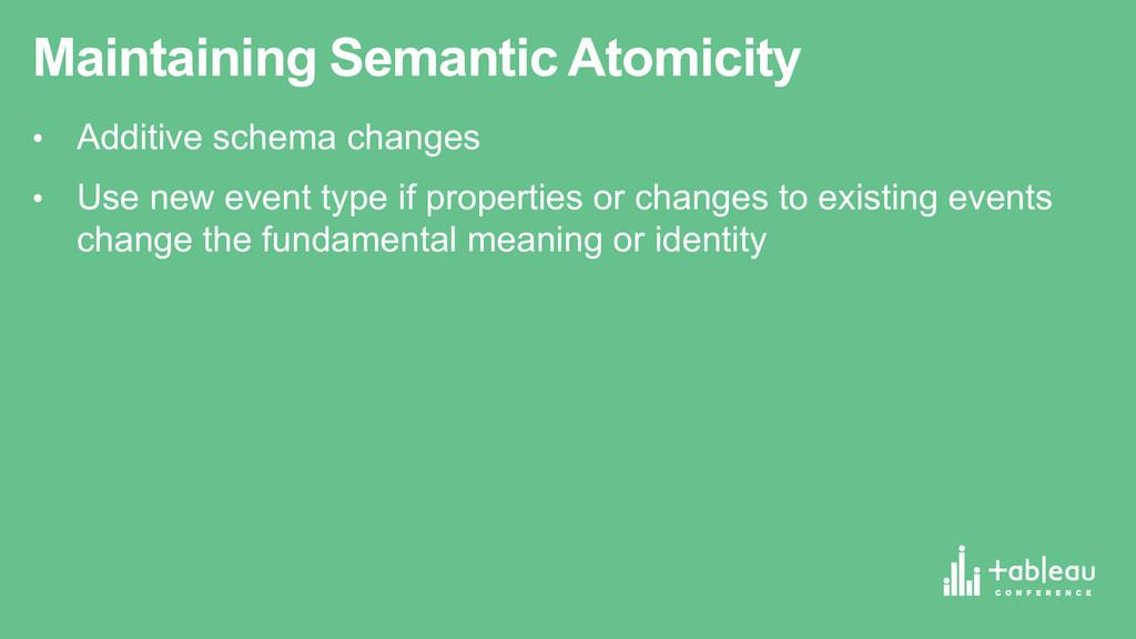 Maintaining Semantic Atomicity • Additive sc...